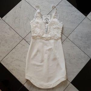 LF Angel Biba White Lace Bodycon Dress